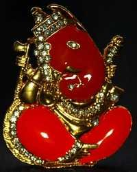 Gift Unique Photo Frame with Jewel Studded Ganesha Idol