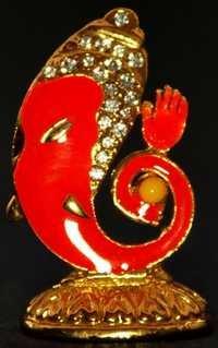 Religious Gift Jewel Studded Ganesha Idol Figurine