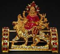 Religious Gift Jewel Studded Ambe Maa Idol Figurine