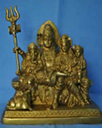 Lord Shiva Family (Shiva, Parwati Ganesh and Kartike) Brass Statue Free shipping