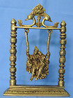 Swing Radha Krishna Religious brass Metal Statue for gift home decor, temple