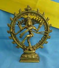 Natraj Brass Statue small gift award Dancing Shiva