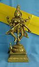 Goddess Saraswati Indian Metalware Brass Statue Murti