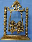 Swing Laxmi Ganesh Brass handmade murti nice art of collection for home , house