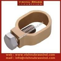Brass O Type Earthing Clamp