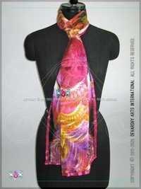 Designer Satin Printed Stoles scarves