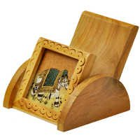 Little India Gemstone Painting Wooden Mobile Stand Gift -124