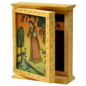 Little India Rajasthani Gemstone Painting Key Holder Box -118