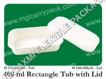 Rectangle Tub With Lid