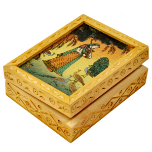 Little India Precious Gemstone Painting Jewellery Box Gift -123