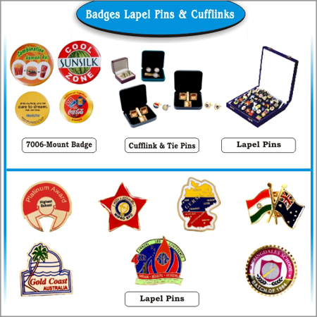Badges Lapel Pins & Cufflinks