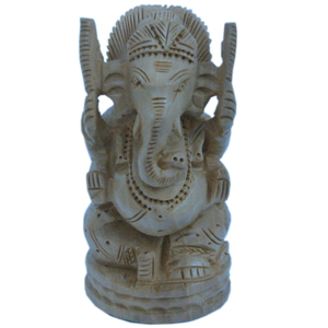 Little India Fine Carved Lord Ganesha Design Wooden Gift -167