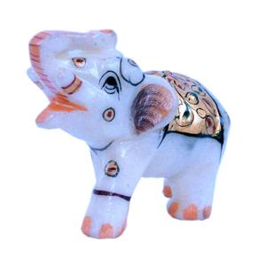 Little India Rajasthani Handmade Elephant Marble Handicraft 146