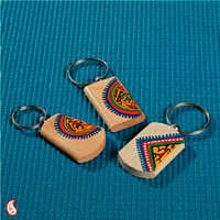 Handpainted Wooden Key Chain Set