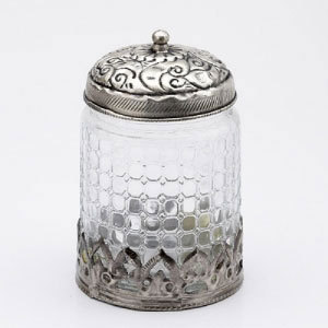 Attractive Multi utility Jar with crinkled glass - WHM0907