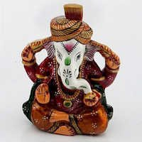 Handpainted Enamelled Metal Lord Ganapati - 13
