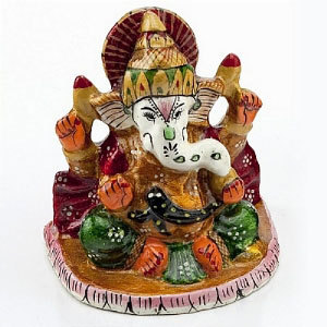 Handpainted Enamelled Metal Lord Ganapati - 10