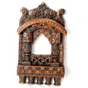 Eye Catching Antique Finish Wooden Jharokha_Wud0907