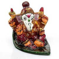 Handpainted Enamelled Metal Lord Ganapati - 11