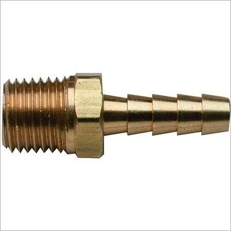 Brass hose nipple male