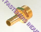Brass reducing hose nipple male
