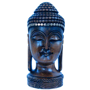 Little India Antique Handcrafted Lord Buddha in Carved Wood-192