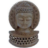 Little India Religious Buddha Statue Carved Wooden Gift -149