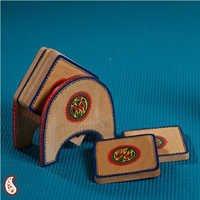Square Wooden Coaster Set