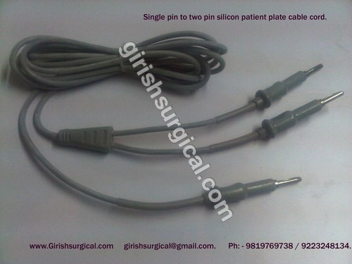 Single Pin To 2 Pin Patient Plate Cable Cord