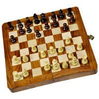 Little India Designer Wooden Chess Board Handicraft Gift -115
