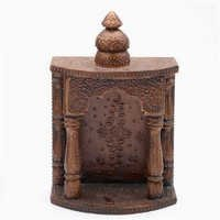 Antique Finish Embossed Wooden Temple - WUD0901