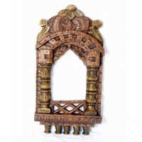 Ethnic Handcrafted Wooden Jharokha - WUD0908