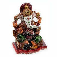 Handpainted Enamelled Metal Lord Ganapati - 07