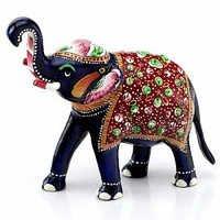 Handpainted Enamelled Metal Elephant - 15