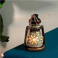 Handcrafted N Painted Lantern