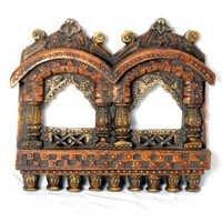 Elegant Handcrafted Dual slot Wooden Jharokha - WUD0906