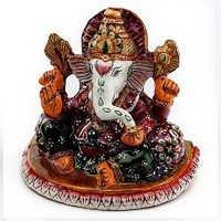 Handpainted Enamelled Metal Lord Ganapati - 03