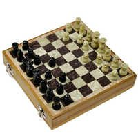 Little India Real Makrana Marble Chess Board Handicraft -106