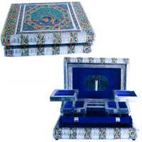 Little India Metal Colourful Meenakari Work Jewellery Box -174