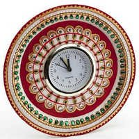 Marvel in Marble - Gold Embossed Kundan work Alarm Clock - 52
