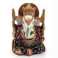 Handpainted Enamelled Metal Lord Ganapati - 04