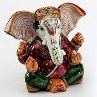 Handpainted Enamelled Metal Lord Ganapati - 02