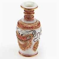 Marvel in Marble - Gold Embossed Jeweled Design Vase - 70