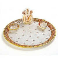 Marvel in Marble - Pooja Thali - 037