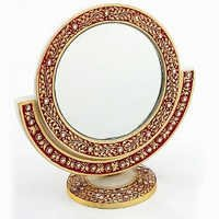 Marvel in Marble - Gold Embossed Mirror - 58