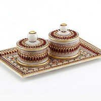 Marvel in Marble - Gold Embossed Tray with 2 Utility containers - 75