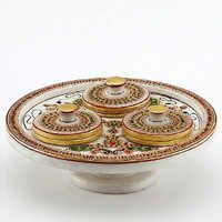 Marvel in Marble - Gold Embossed Revolving Tray Set - 77