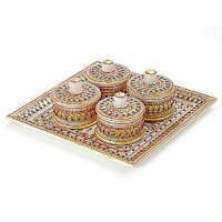 Marvel in Marble - Tray with containers - 045