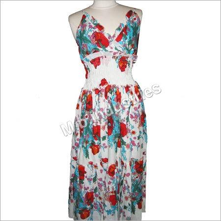 Printed Fabric European Dress