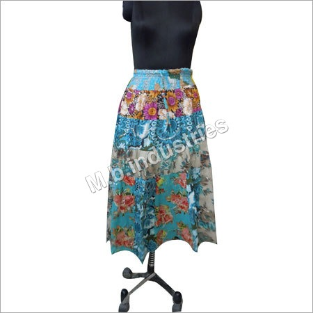 Printed Flower Skirt